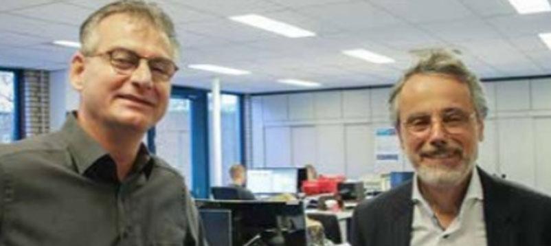 Jef Hermans en Cock Velthuijzen in Nieuwsblad Transport